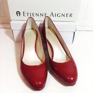 Etienne Aigner Slip On Heels Woman Shoes Size 7